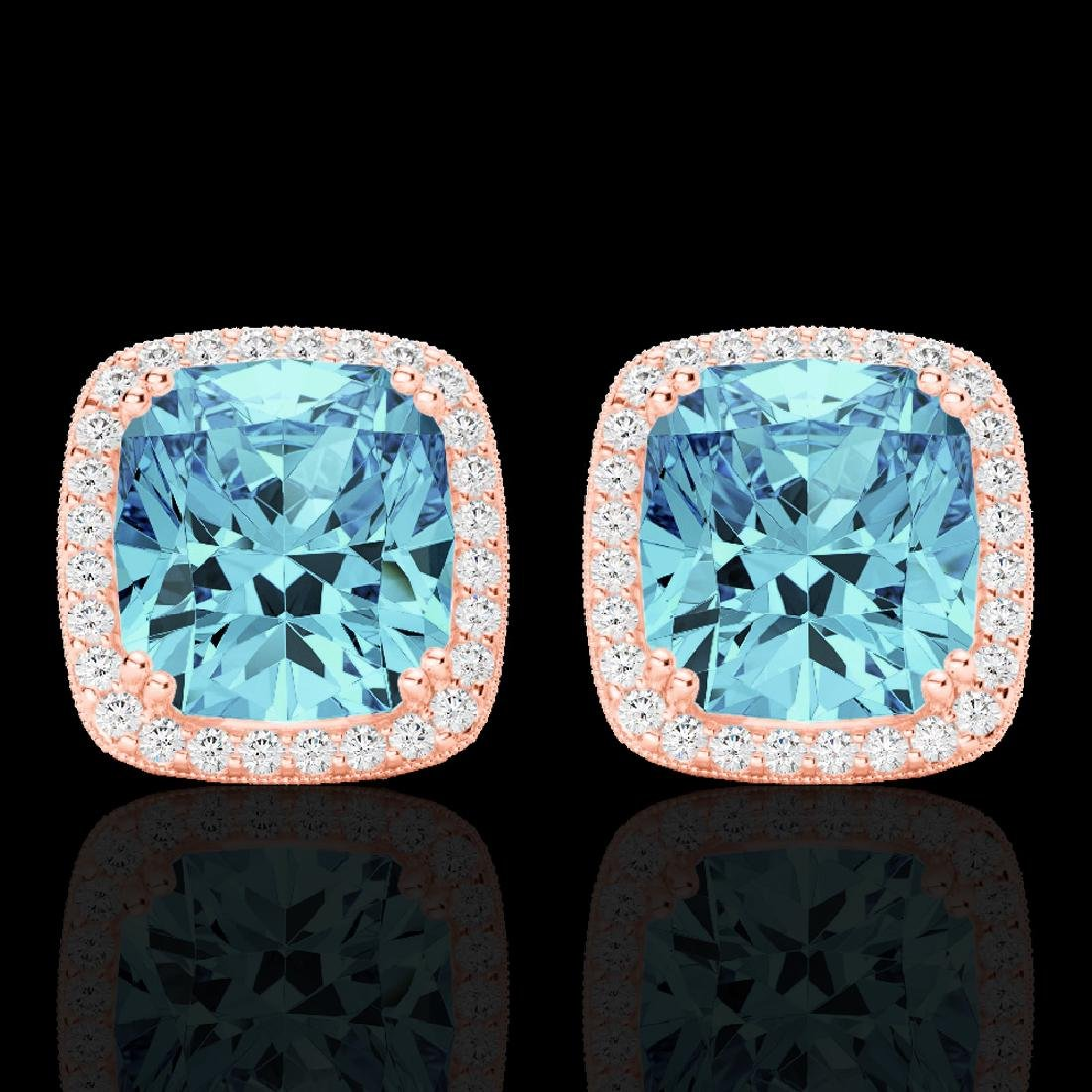 6.50 CTW Sky Blue Topaz & Micro VS/SI Diamond Halo