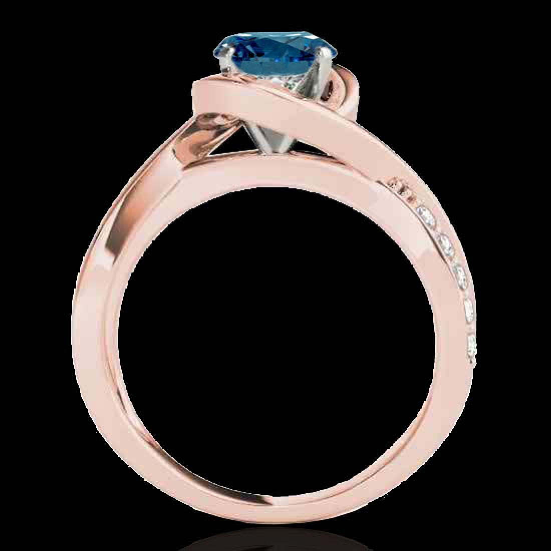 1.15 CTW SI Certified Fancy Blue Diamond Solitaire Ring - 2