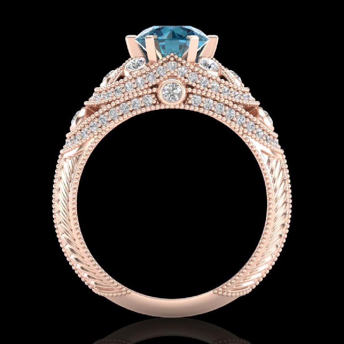 2 CTW Intense Blue Diamond Solitaire Engagement Art - 3