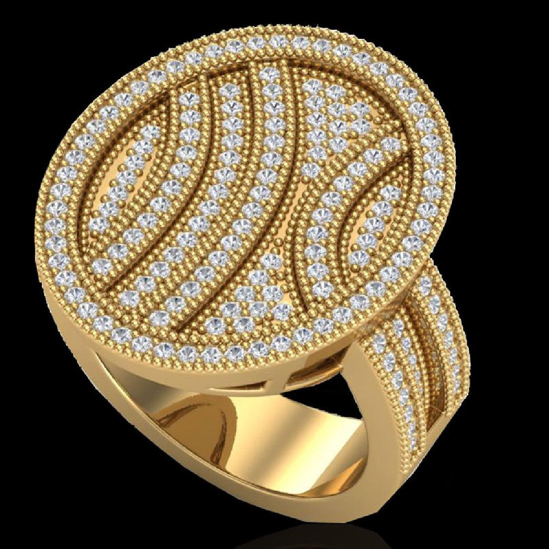 1.25 CTW Micro Pave VS/SI Diamond Ring 14K Yellow Gold