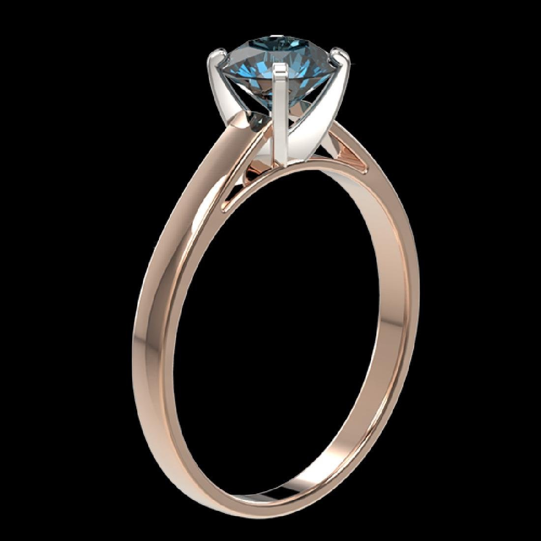 1.08 CTW Certified Intense Blue SI Diamond Solitaire - 3