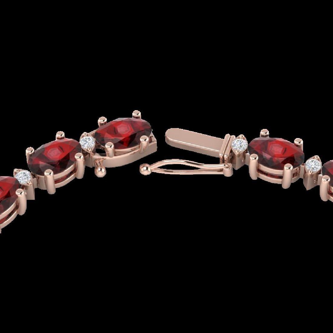33 CTW Garnet & VS/SI Diamond Eternity Tennis Necklace