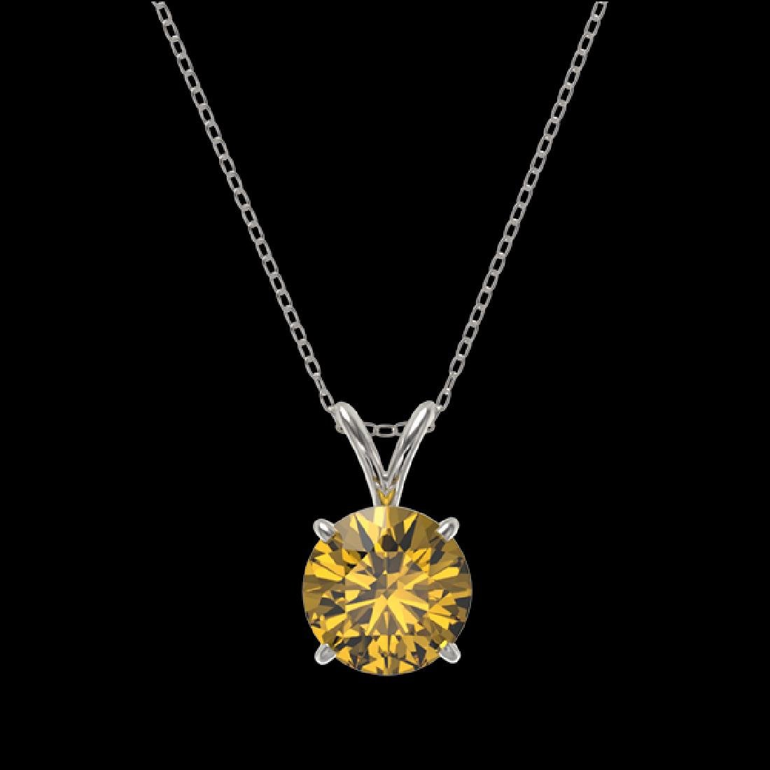1.53 CTW Certified Intense Yellow SI Diamond Solitaire - 3