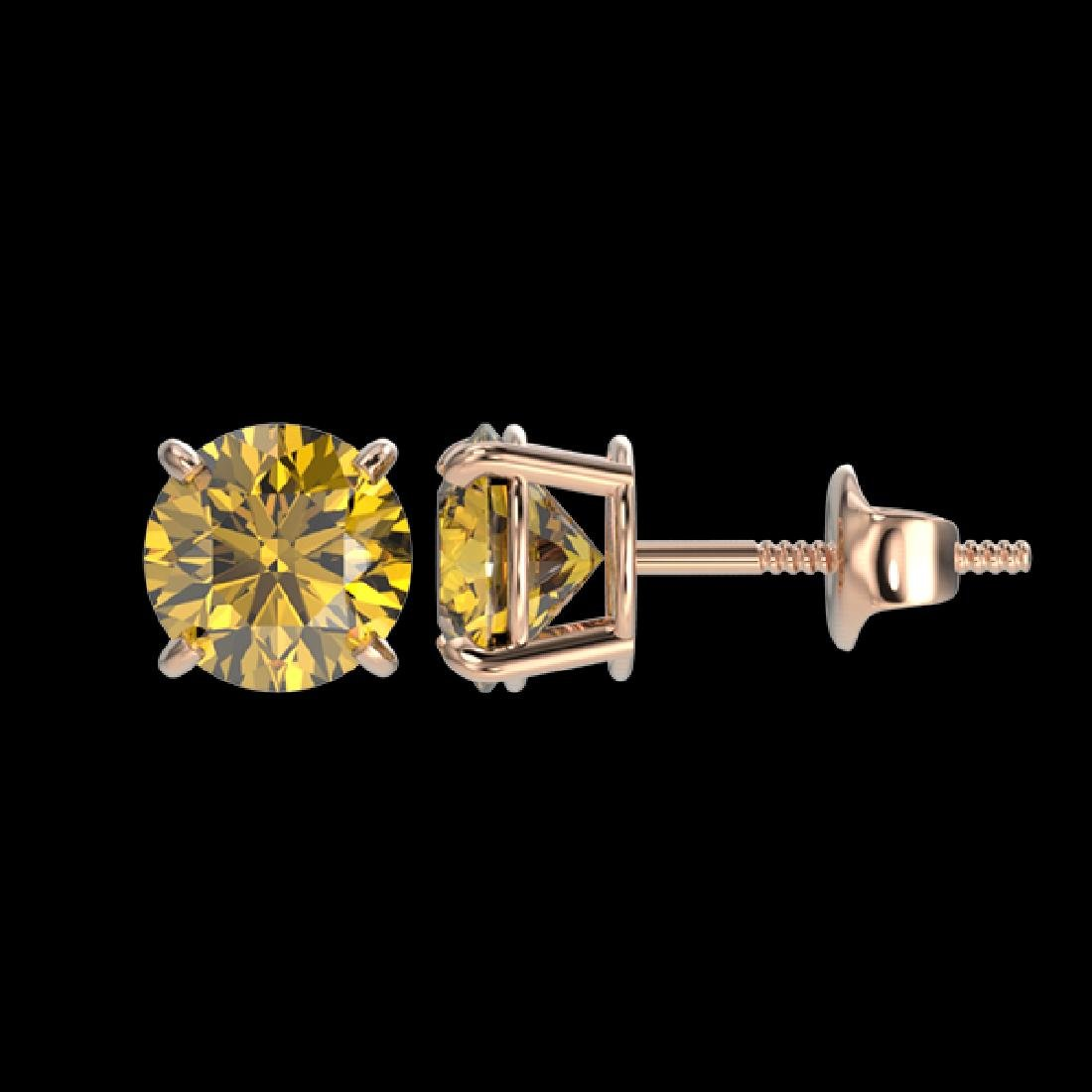 1.50 CTW Certified Intense Yellow SI Diamond Solitaire - 2