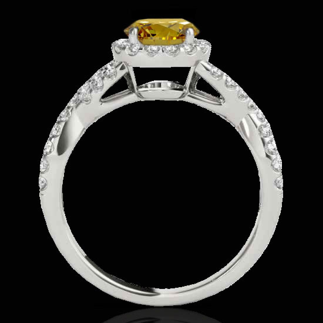 1.54 CTW Certified SI/I Fancy Intense Yellow Diamond - 2