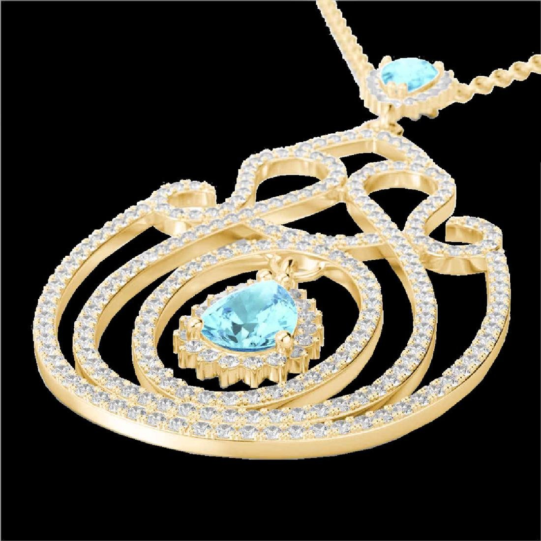 3.20 CTW Sky Blue Topaz & Micro VS/SI Diamond Heart