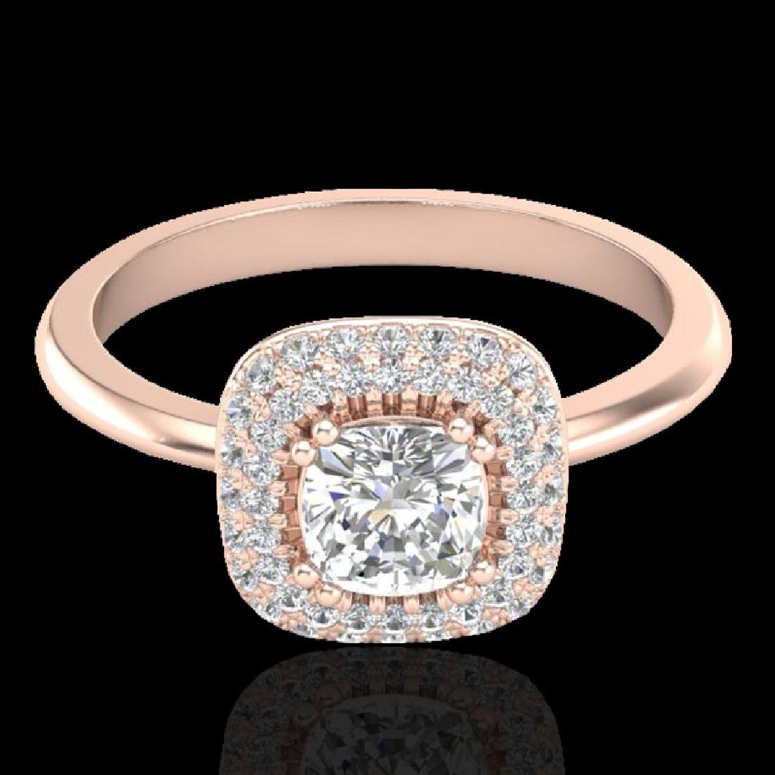 1.16 CTW Micro Si Cushion Diamond Engagement Ring