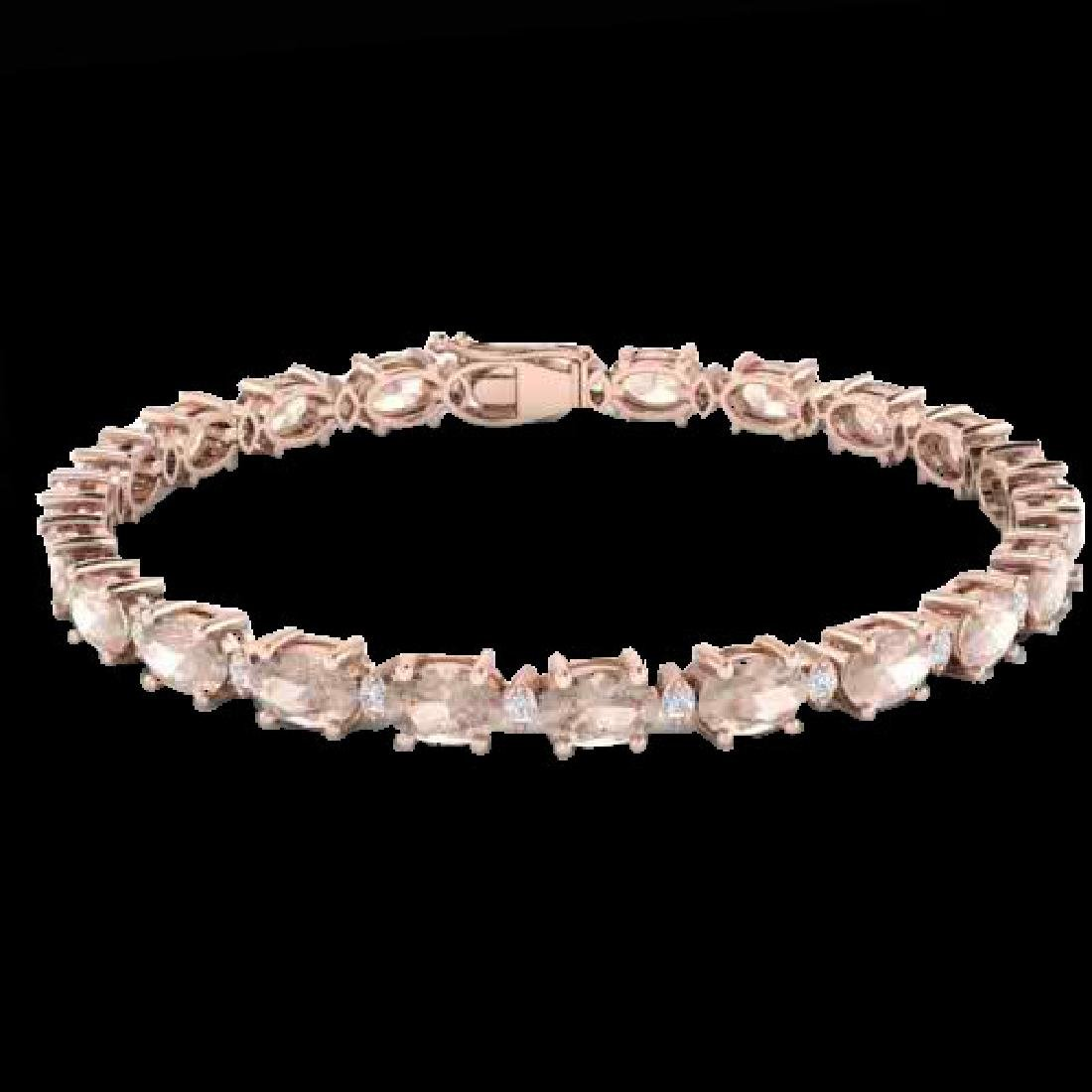 21.2 CTW Morganite & VS/SI Certified Diamond Eternity - 2