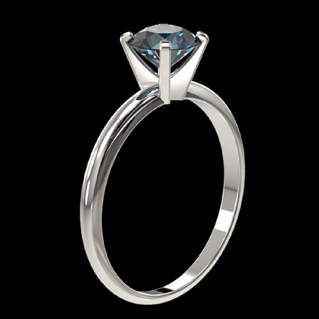 1.05 CTW Certified Intense Blue SI Diamond Solitaire - 3