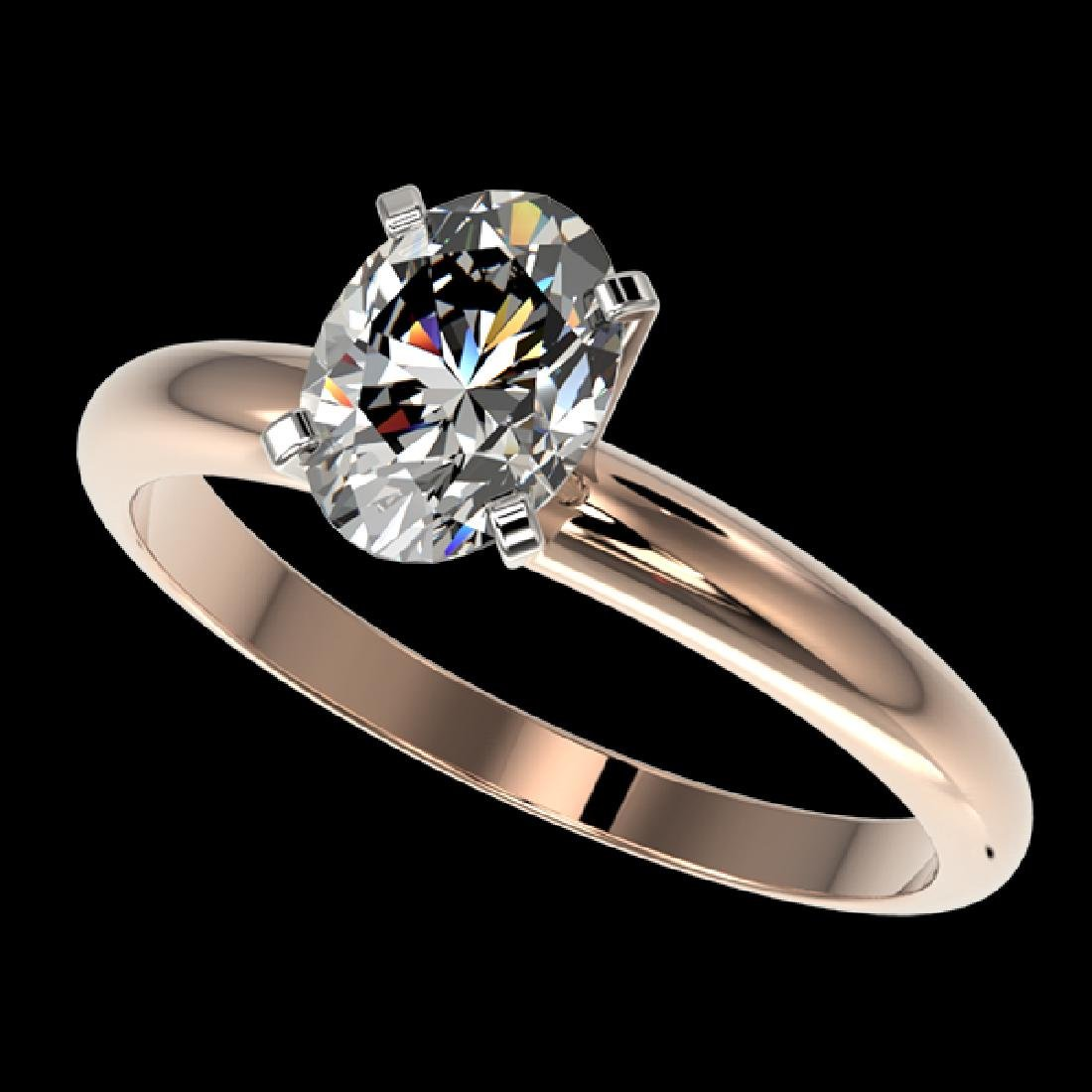 1.25 CTW Certified VS/SI Quality Oval Diamond Solitaire