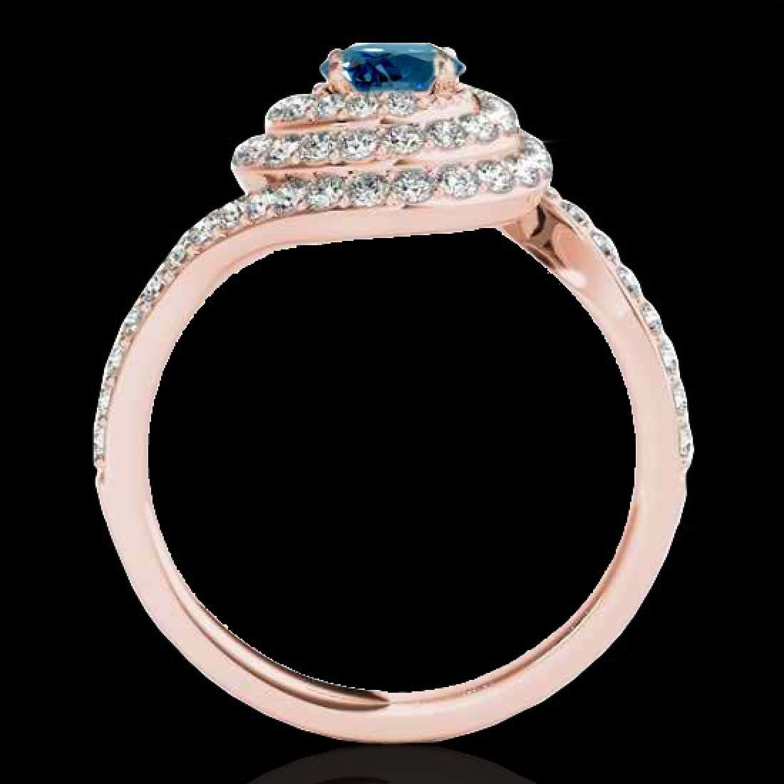 2.11 CTW SI Certified Fancy Blue Diamond Solitaire Halo - 2