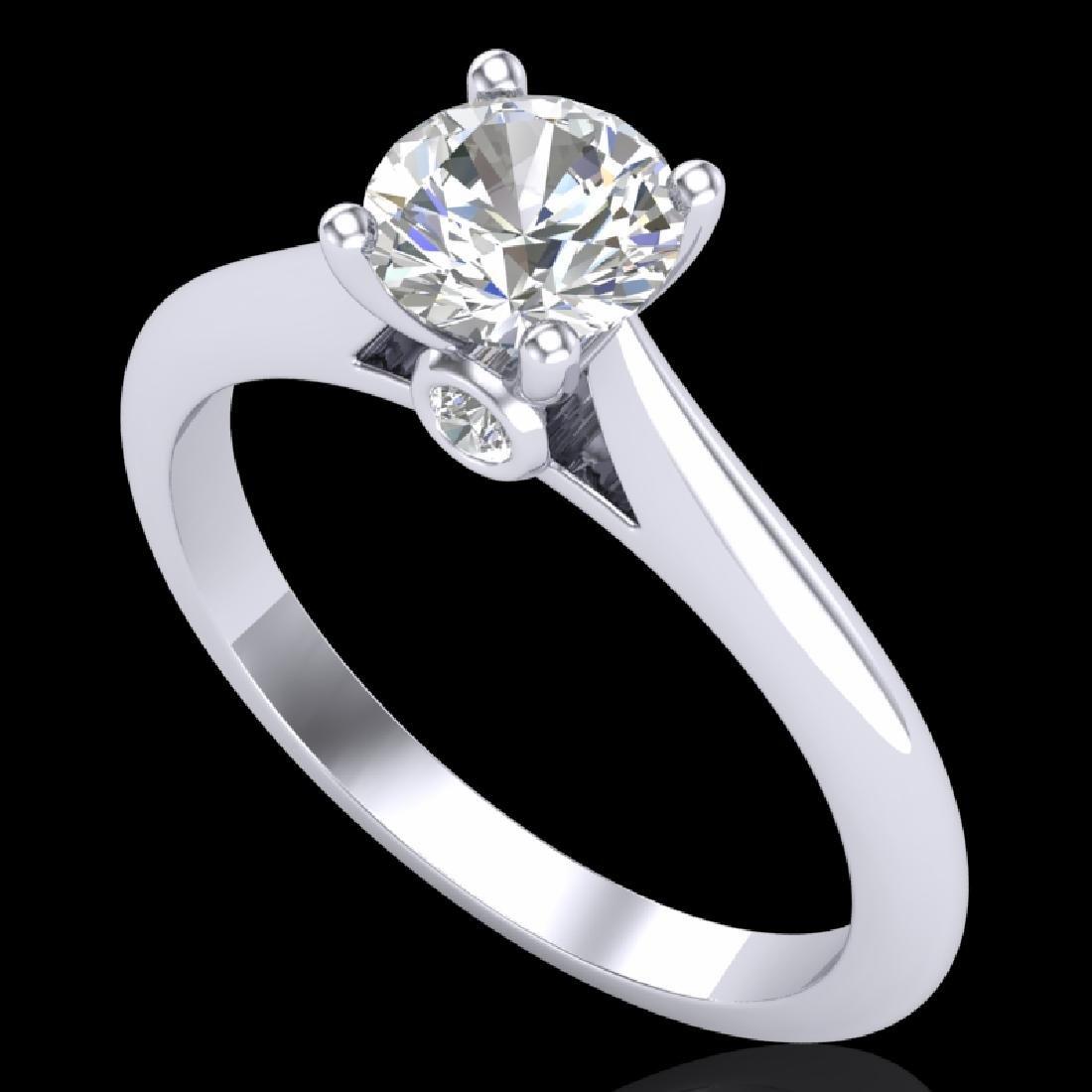 0.83 CTW VS/SI Diamond Solitaire Art Deco Ring 18K