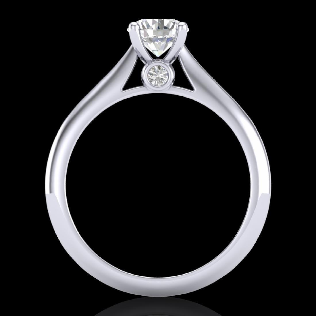 0.83 CTW VS/SI Diamond Solitaire Art Deco Ring 18K - 3