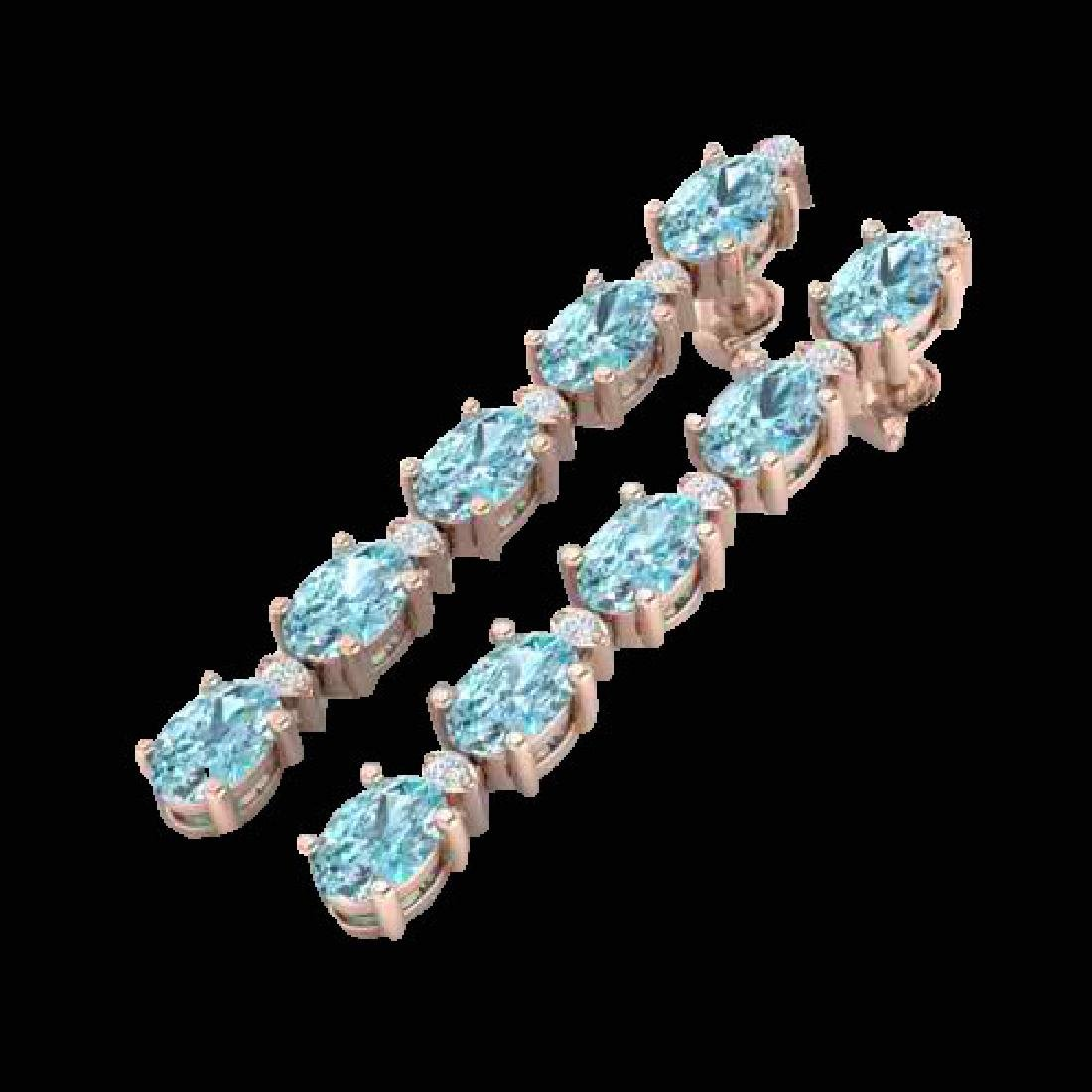 15.47 CTW Sky Blue Topaz & VS/SI Certified Diamond