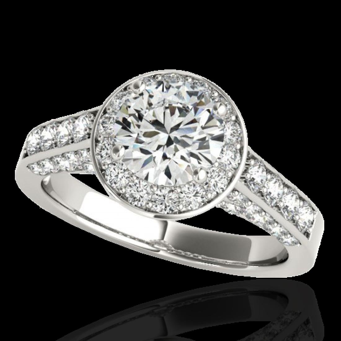 1.8 CTW H-SI/I Certified Diamond Solitaire Halo Ring