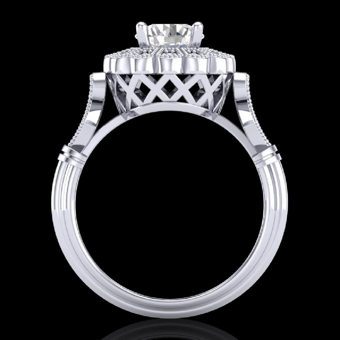 1.2 CTW VS/SI Diamond Solitaire Art Deco Ring 18K White