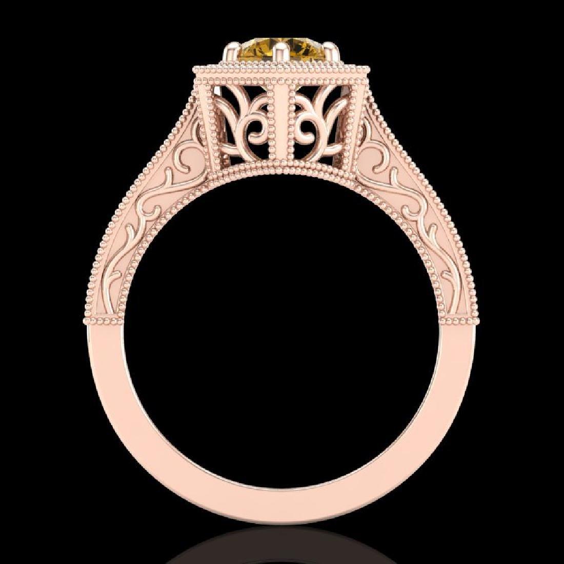 0.77 CTW Intense Fancy Yellow Diamond Engagement Art - 2