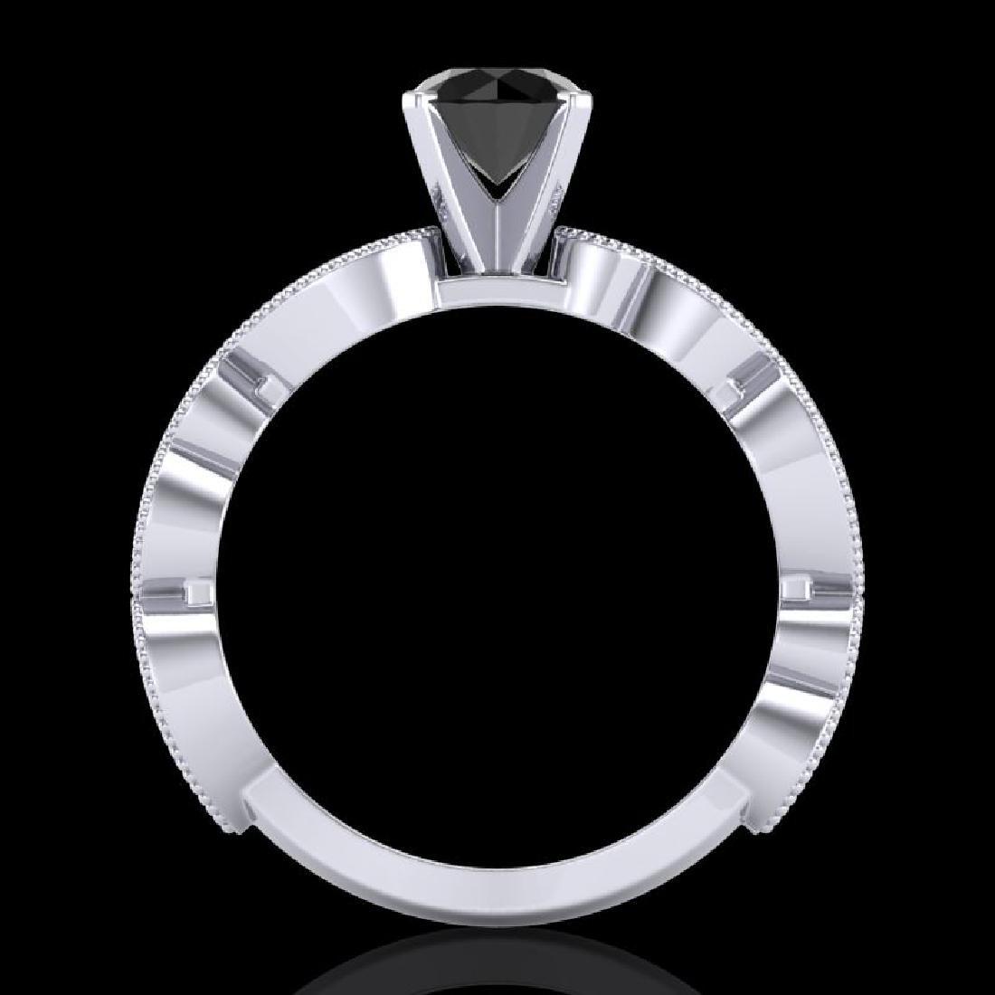 1.01 CTW Fancy Black Diamond Solitaire Engagement Art - 3