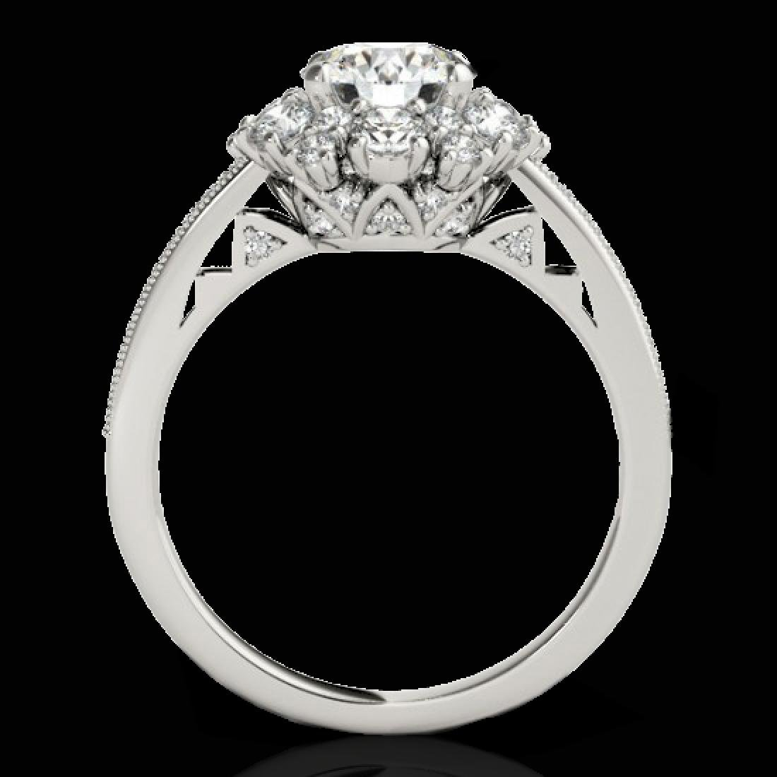 2.16 CTW H-SI/I Certified Diamond Solitaire Halo Ring - 2