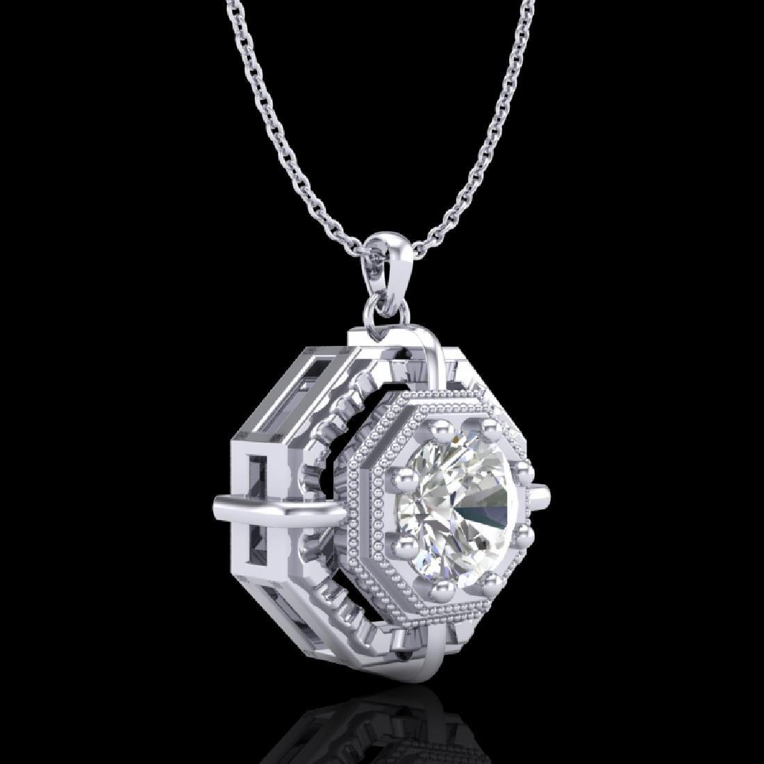 0.75 CTW VS/SI Diamond Solitaire Art Deco Stud Necklace - 3