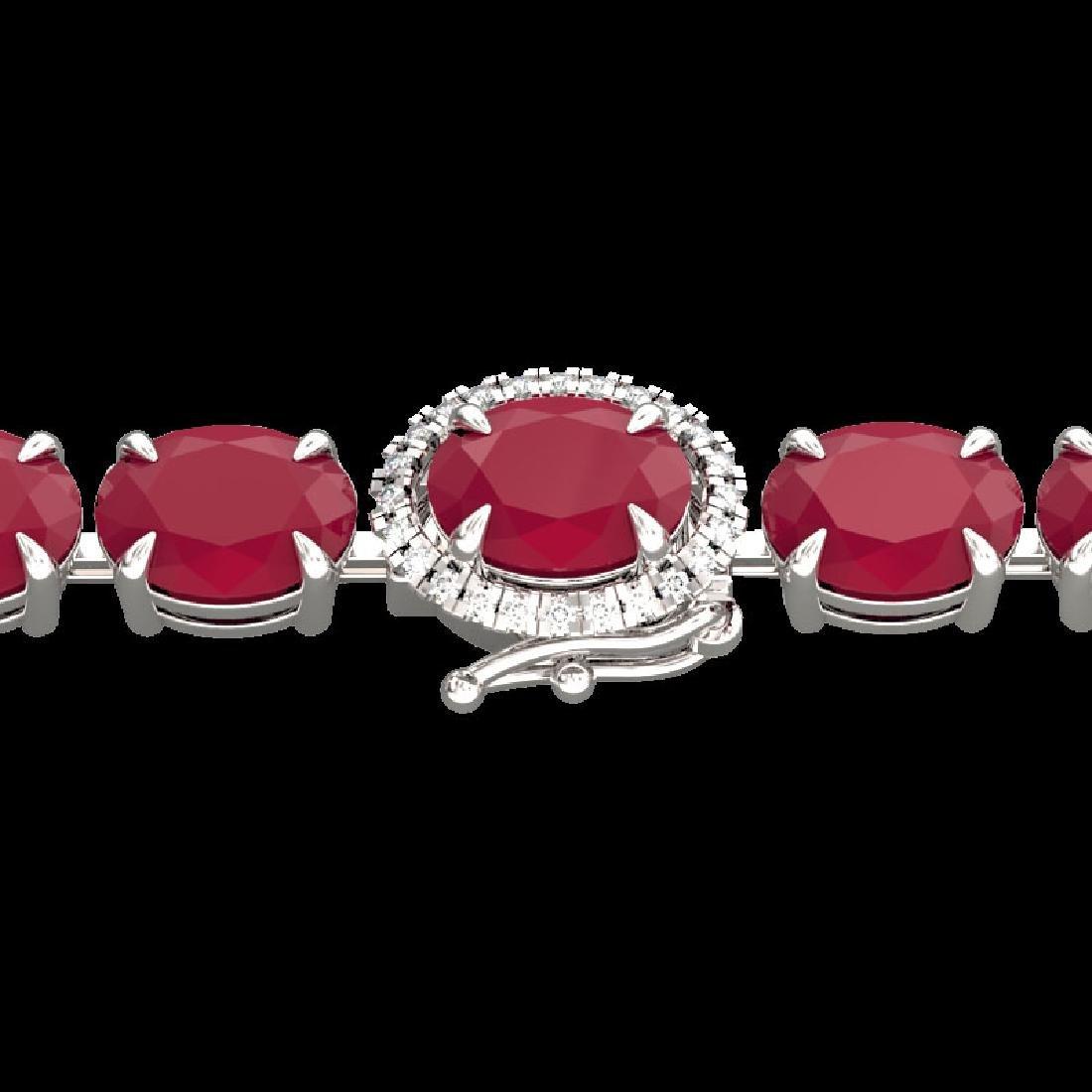 37 CTW Ruby & VS/SI Diamond Eternity Tennis Micro Halo