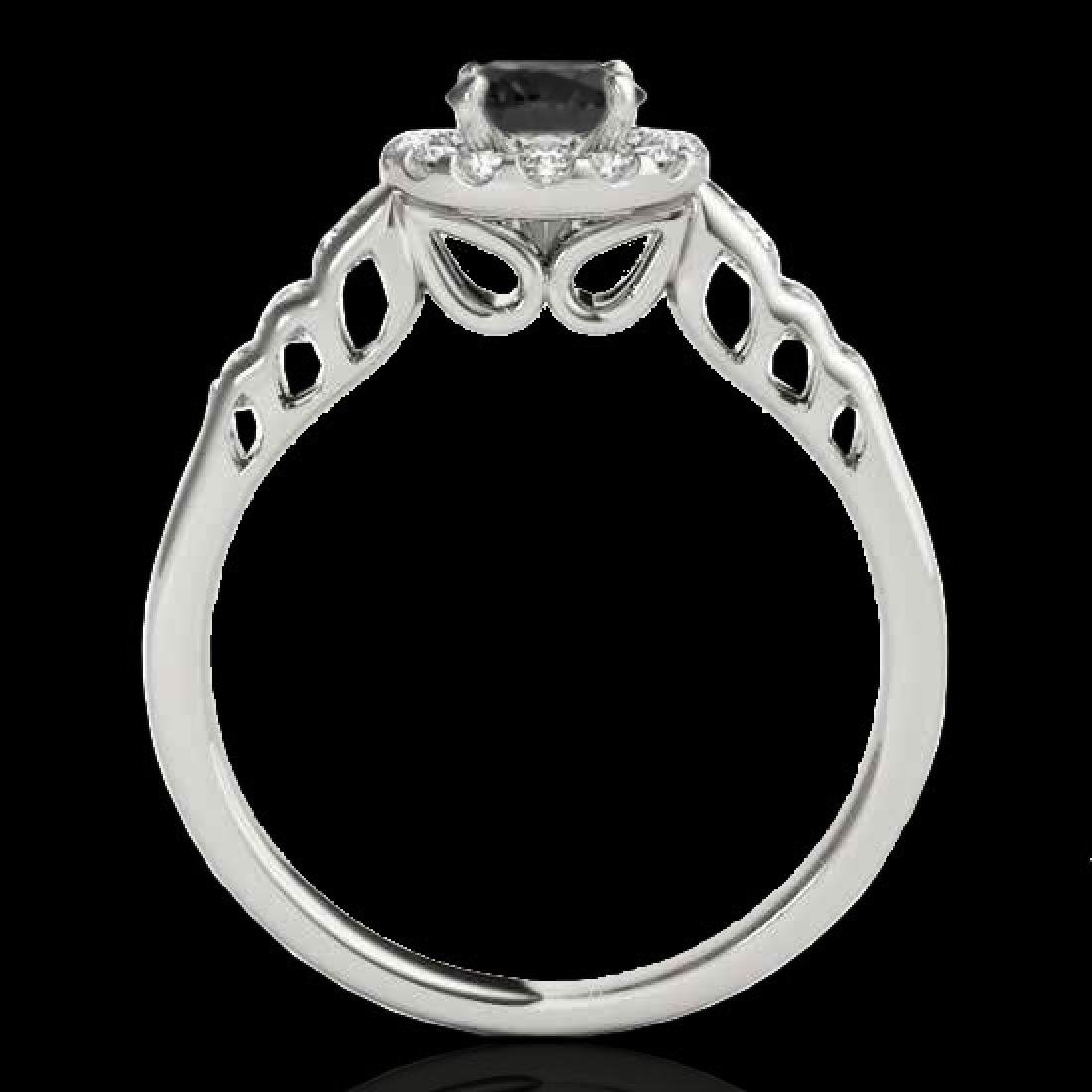 1.55 CTW Certified VS Black Diamond Solitaire Halo Ring - 2