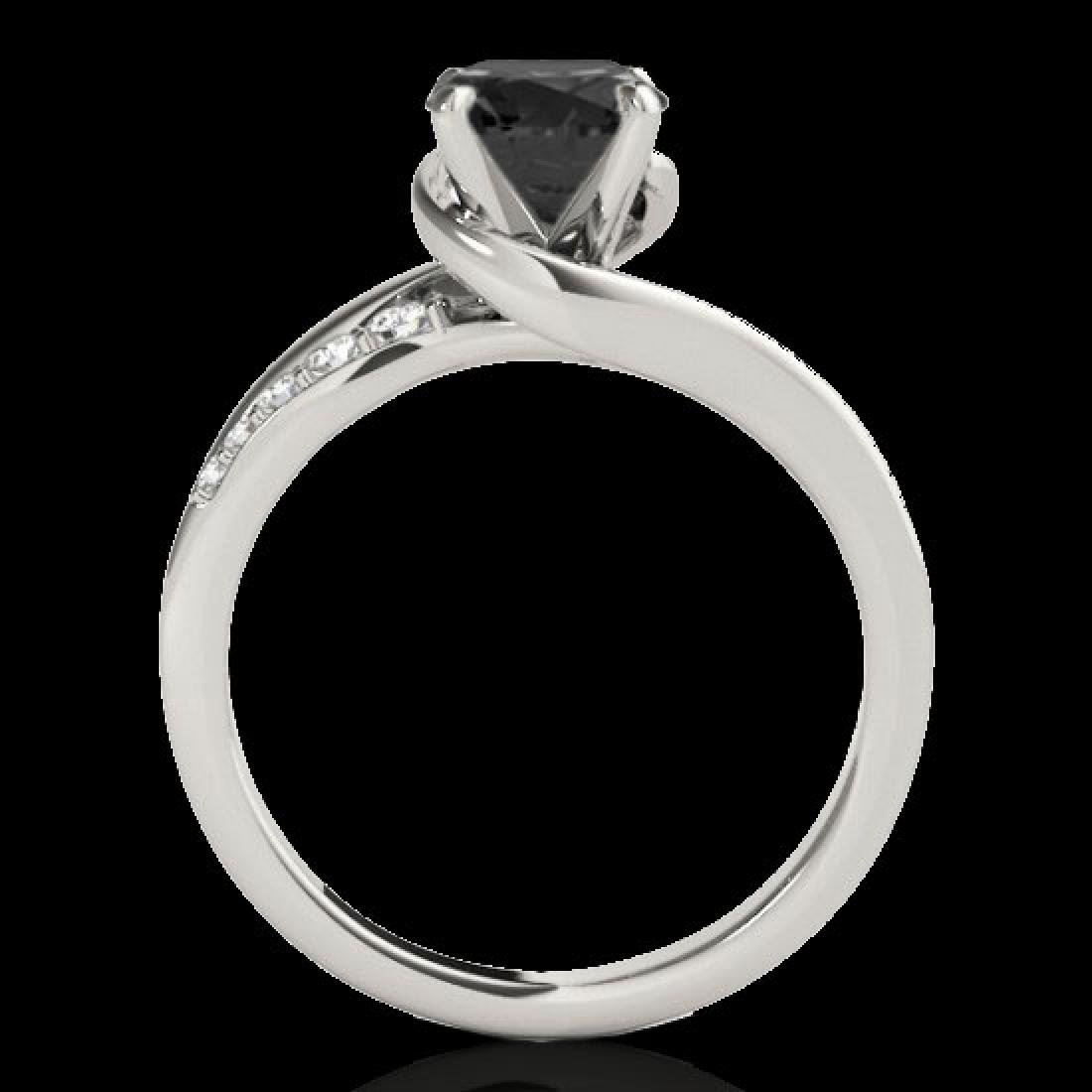 1.31 CTW Certified VS Black Diamond Bypass Solitaire - 2