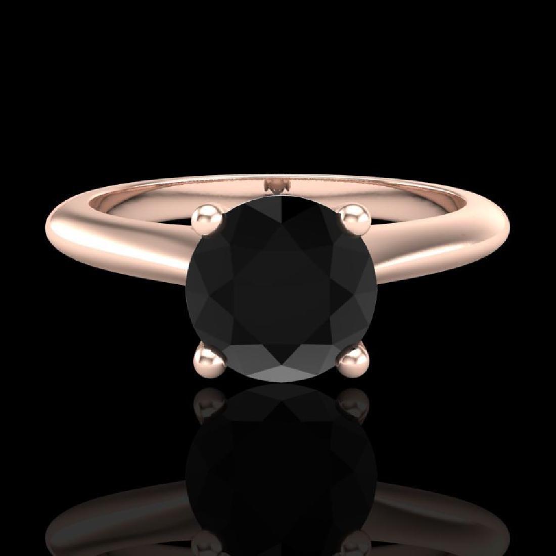 1.08 CTW Fancy Black Diamond Solitaire Engagement Art - 2