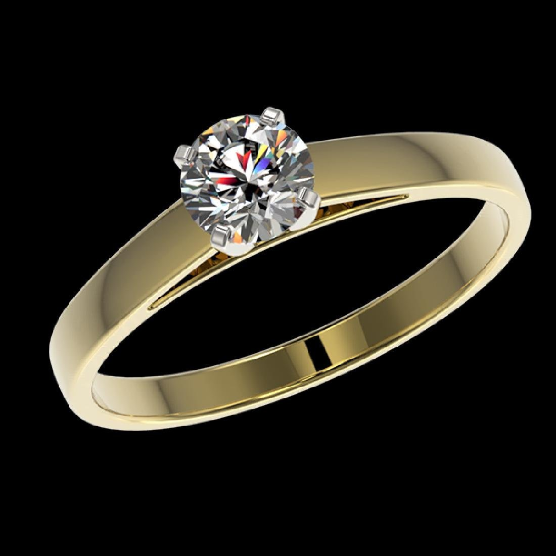 0.51 CTW Certified H-SI/I Quality Diamond Solitaire - 2