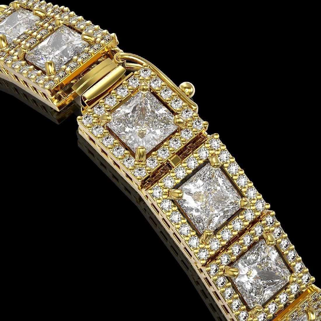 15.87 CTW Princess Diamond Designer Bracelet 18K Yellow - 3