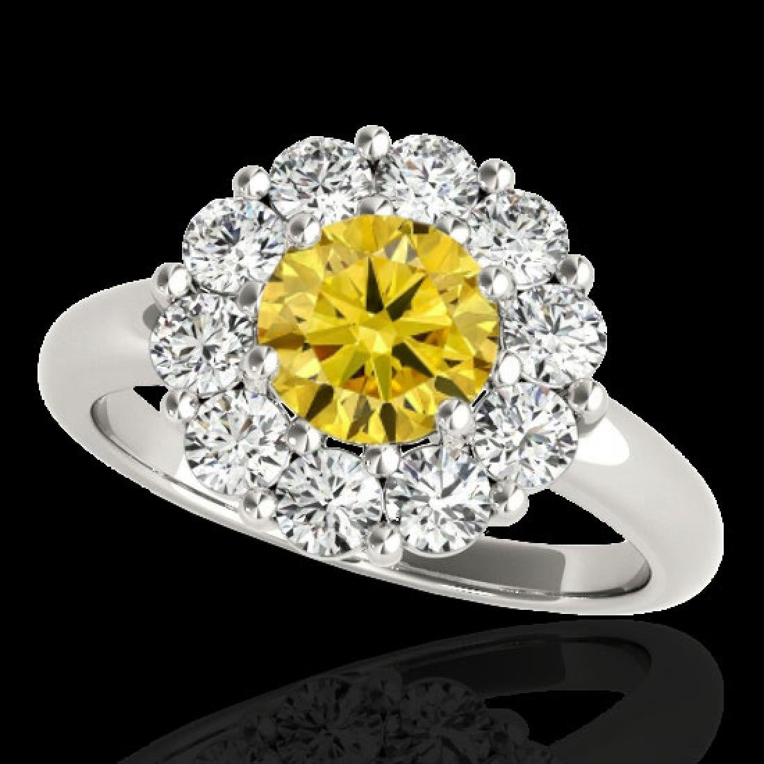 2.85 CTW Certified SI/I Fancy Intense Yellow Diamond