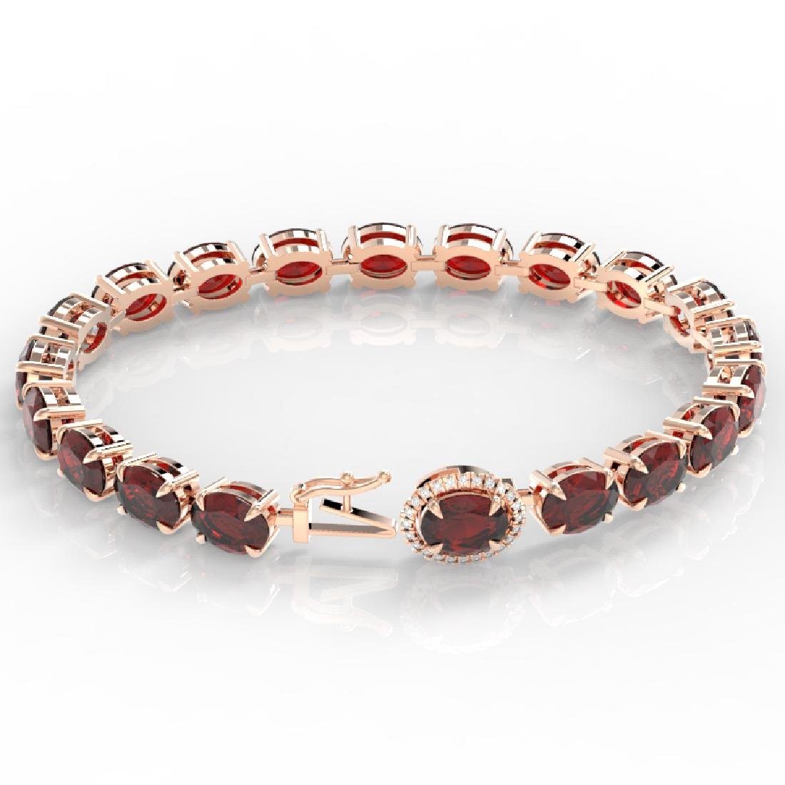 19.25 CTW Garnet & VS/SI Diamond Eternity Tennis Micro - 3