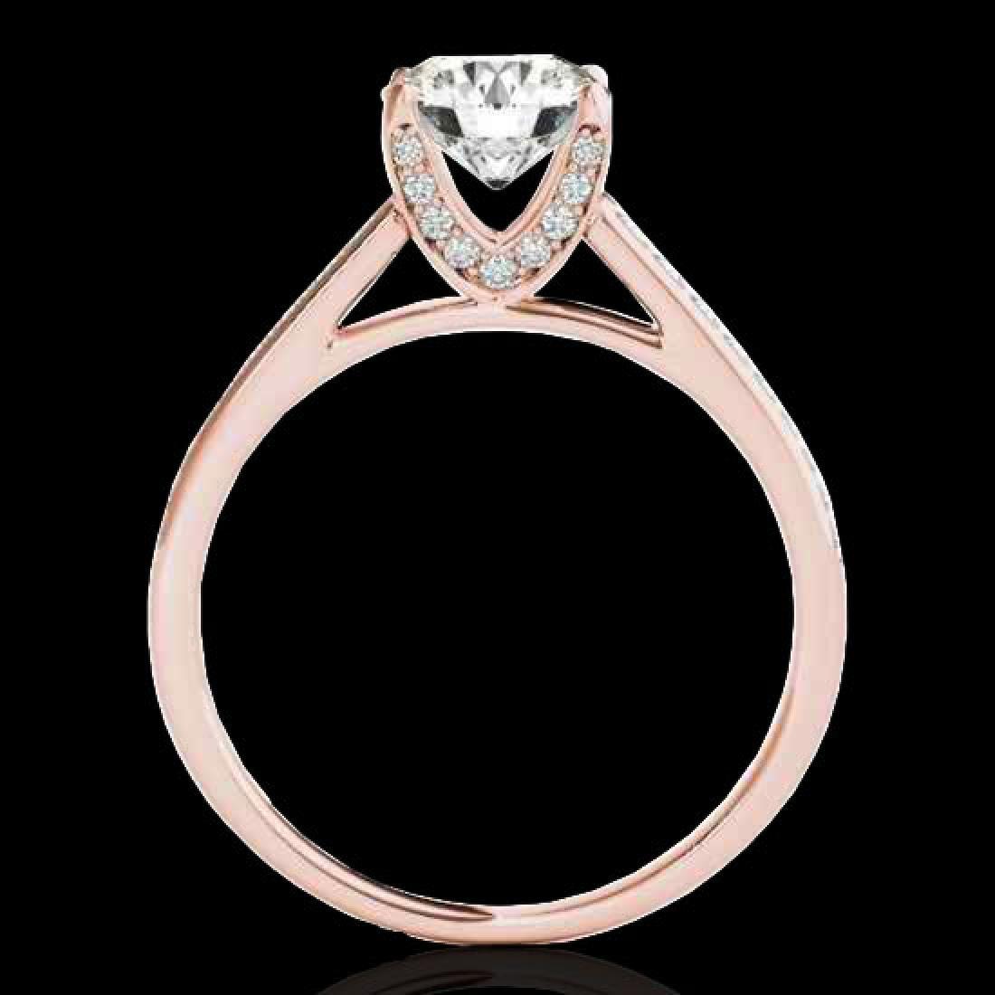 2 CTW H-SI/I Certified Diamond Solitaire Ring 10K Rose - 2