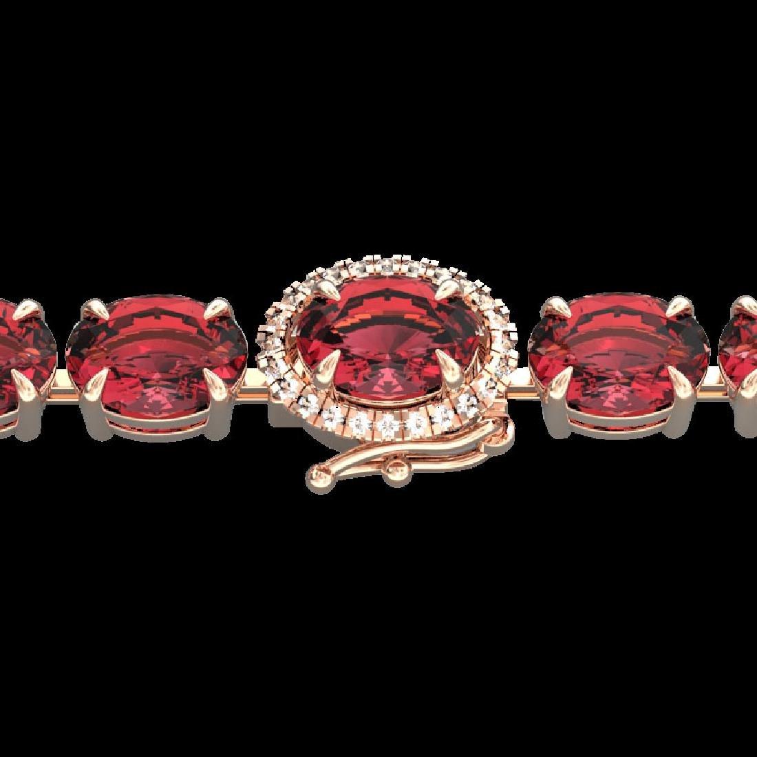 17.25 CTW Pink Tourmaline & VS/SI Diamond Micro Halo