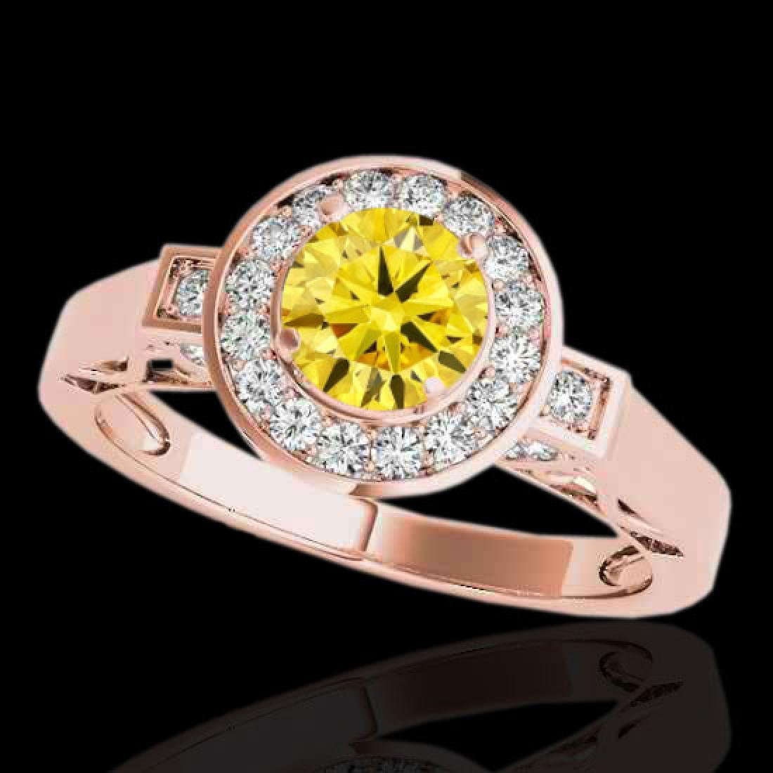 1.75 CTW Certified SI/I Fancy Intense Yellow Diamond