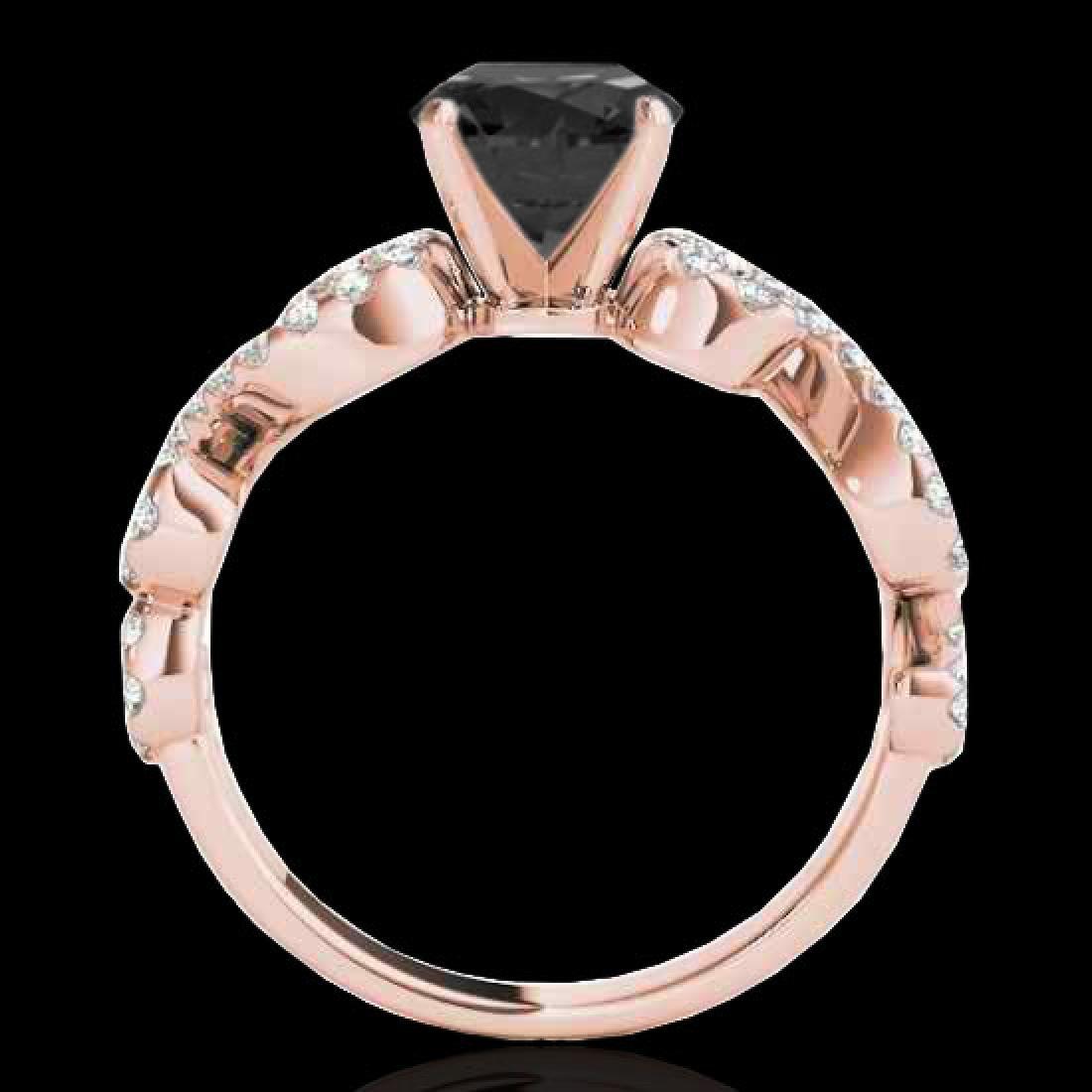 1.4 CTW Certified VS Black Diamond Solitaire Ring 10K - 2