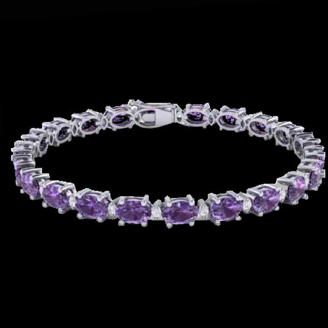 19.7 CTW Amethyst & VS/SI Certified Diamond Eternity - 2