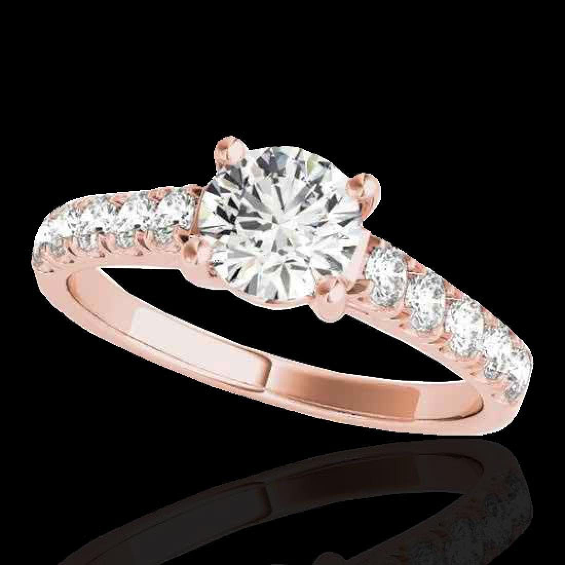 2.1 CTW H-SI/I Certified Diamond Solitaire Ring 10K