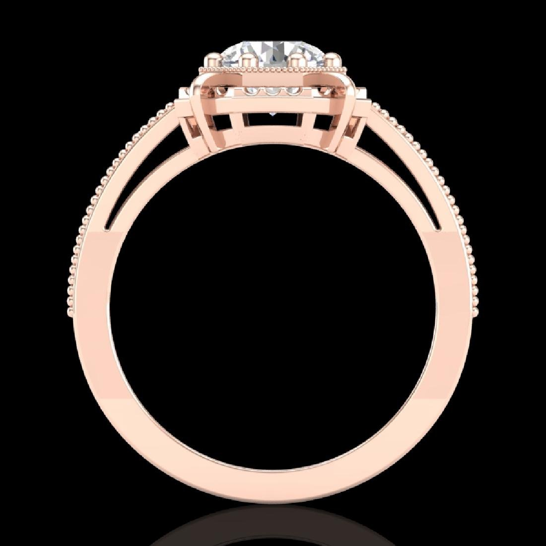 1 CTW VS/SI Diamond Solitaire Art Deco Ring 18K Rose