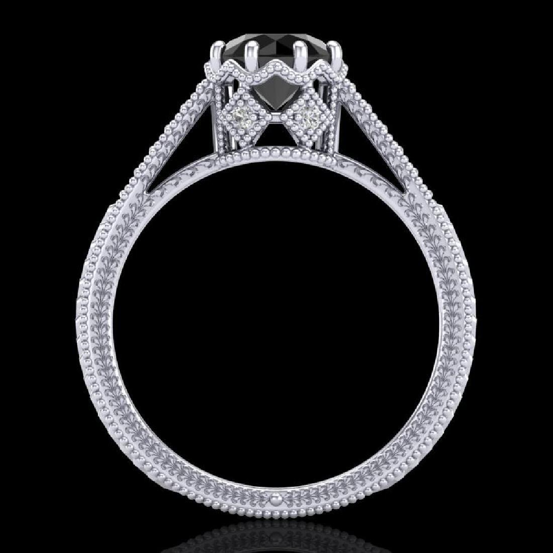 1.25 CTW Fancy Black Diamond Solitaire Engagement Art - 2