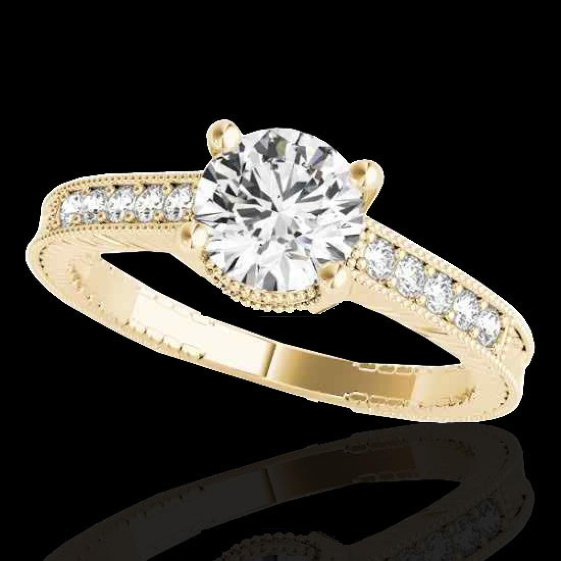1.45 CTW H-SI/I Certified Diamond Solitaire Antique