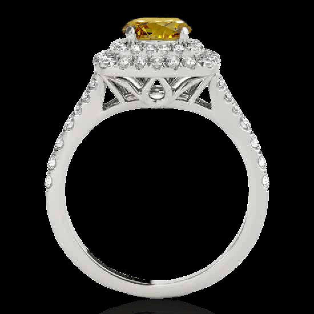 1.6 CTW Certified Si Fancy Intense Diamond Solitaire - 2