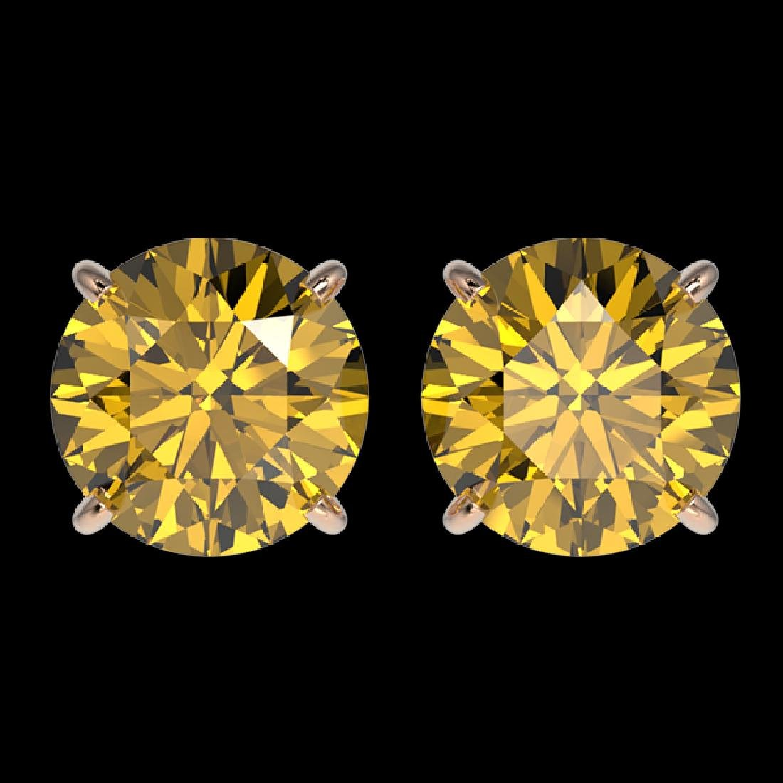 3 CTW Certified Intense Yellow SI Diamond Solitaire