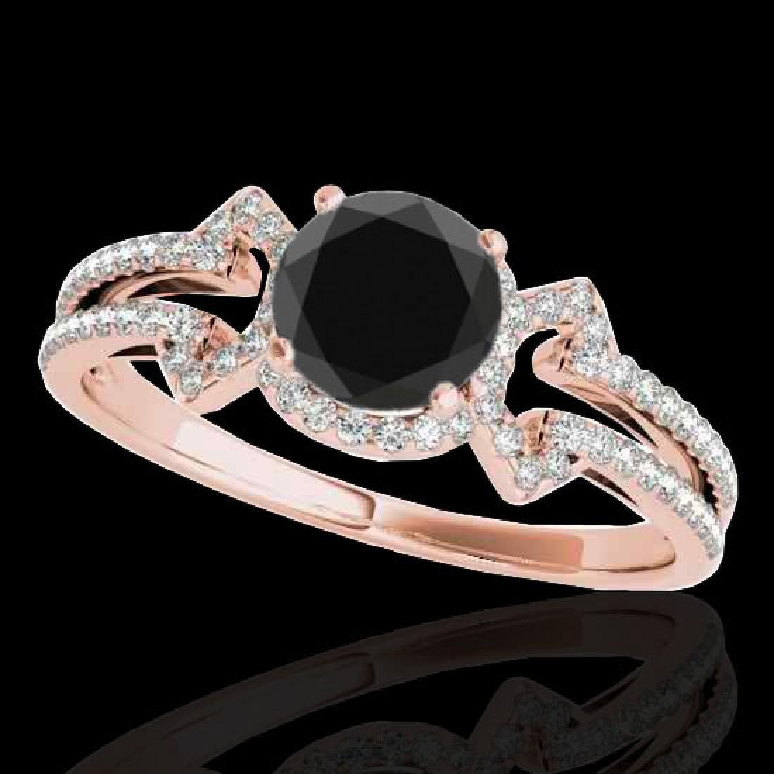 1.36 CTW Certified VS Black Diamond Solitaire Ring 10K