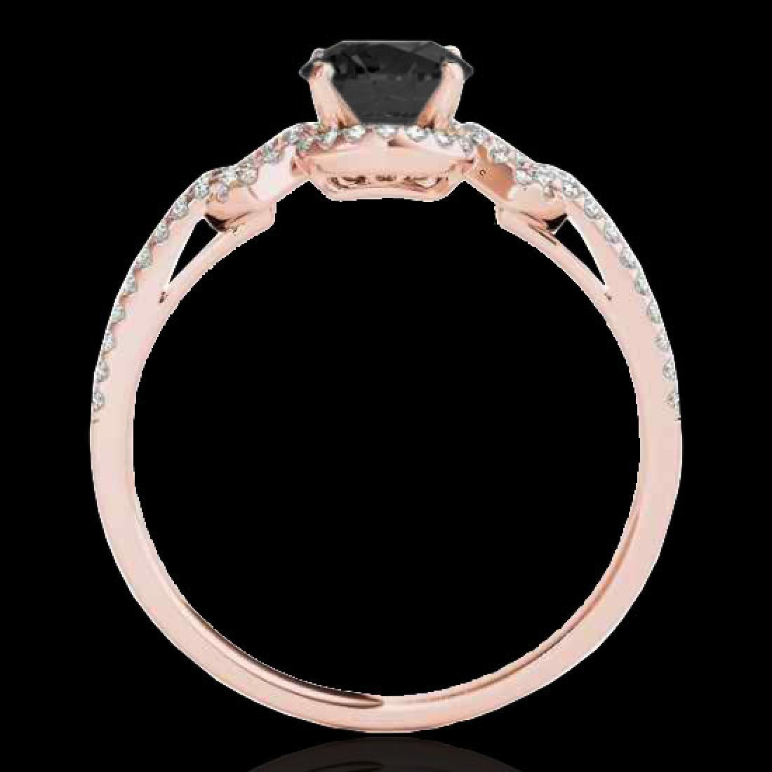 1.36 CTW Certified VS Black Diamond Solitaire Ring 10K - 2