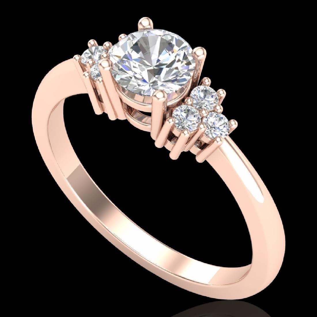 0.75 CTW VS/SI Diamond Ring 18K Rose Gold