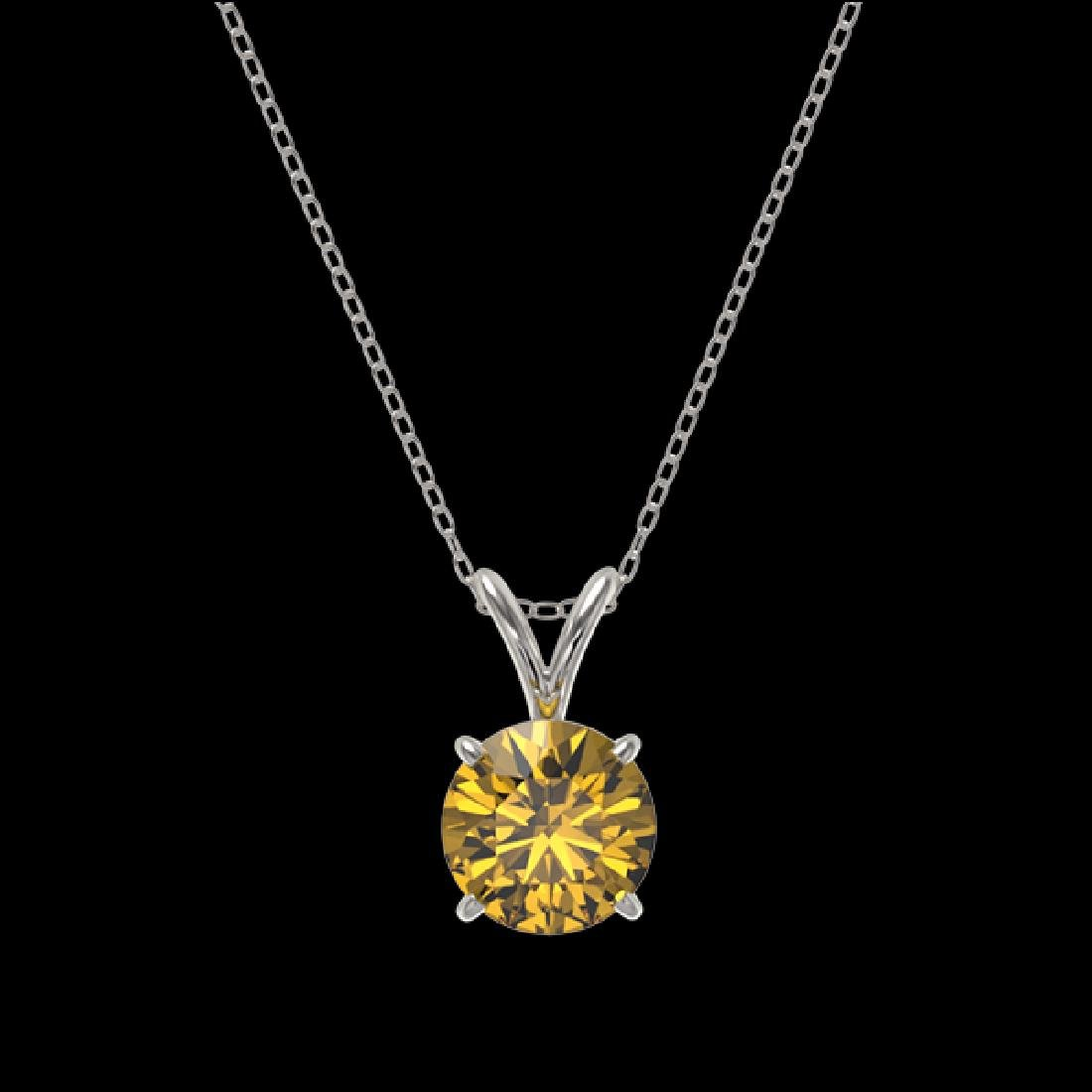 1.03 CTW Certified Intense Yellow SI Diamond Solitaire - 3