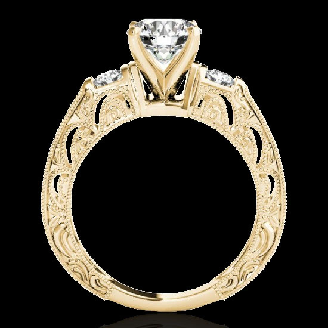 1.38 CTW H-SI/I Certified Diamond Solitaire Antique - 2