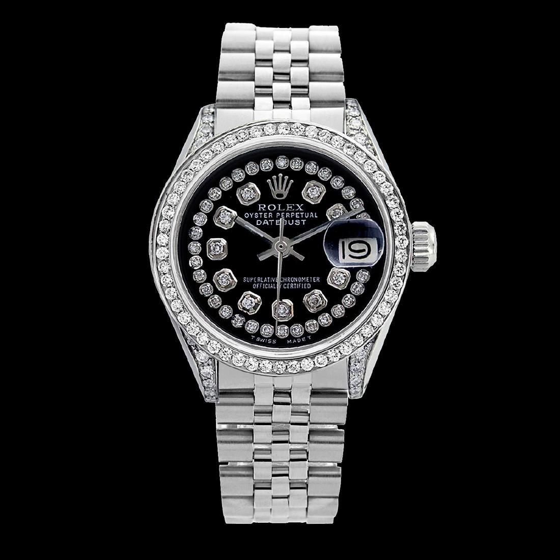 Rolex Ladies Stainless Steel, Diamond Dial & Diamond - 2