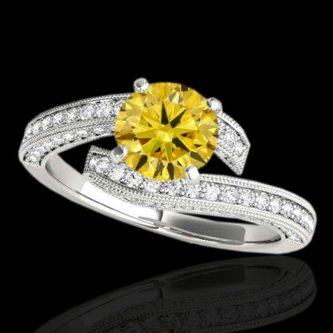 1.75 CTW Certified Si Intense Yellow Diamond Bypass